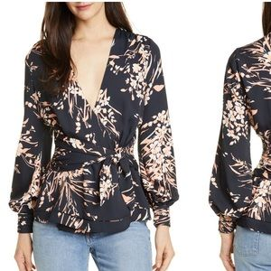 NEW NWT Joie Arin Floral Wrap Blouse